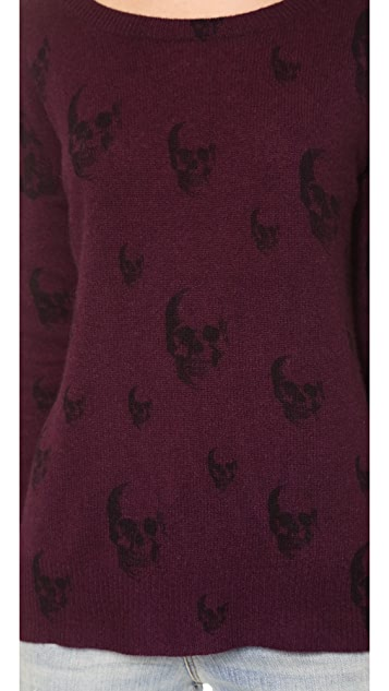 360 SWEATER Multi Dexter Skull Cashmere Sweater