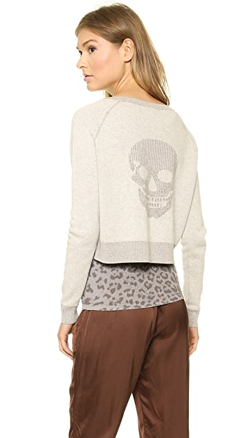 360 SWEATER Skull Crop Sweatshirt