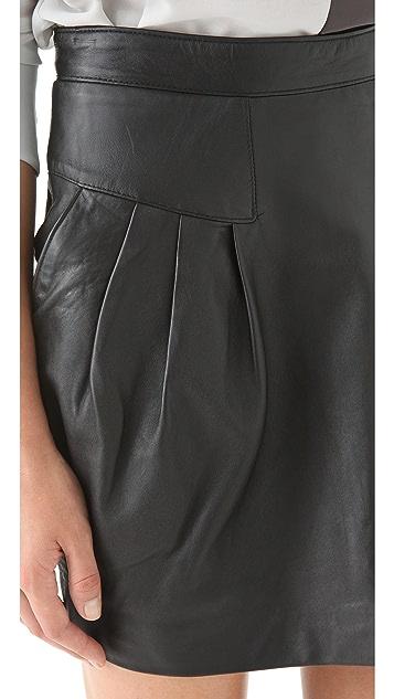 Sandra Weil Celia Leather Skirt