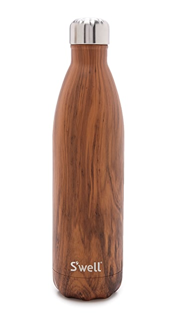 S'well Wood Grain Large Stainless Steel Bottle