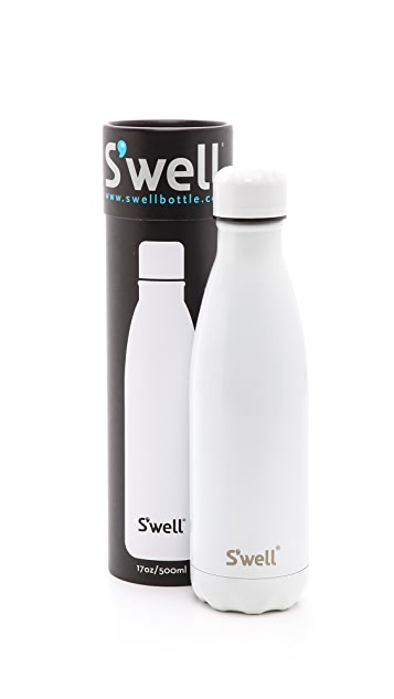 S'well White Out Medium Stainless Steel Bottle