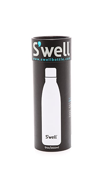 S'well Black Stone Small Stainless Steel Bottle