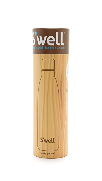 S'well Woodgrain Medium Stainless Steel Water Bottle