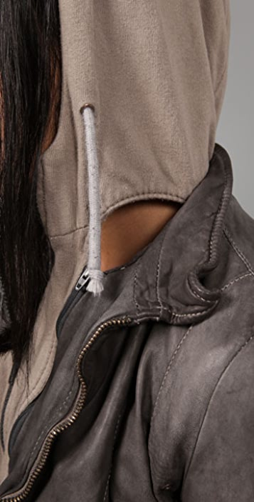S.W.O.R.D Leather Hoodie Jacket