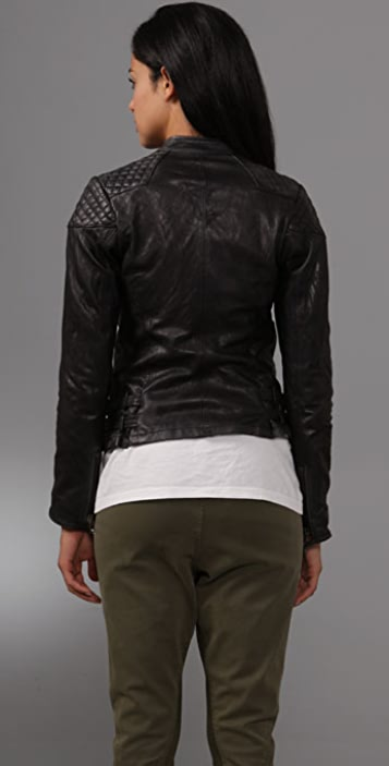S.W.O.R.D Leather Quilted Moto Jacket
