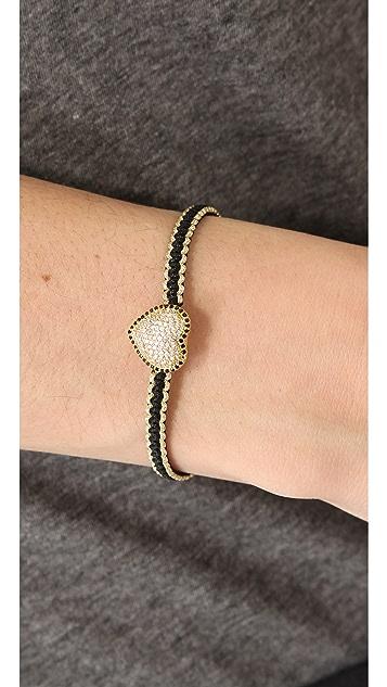 Tai Pave Full Heart Charm Bracelet