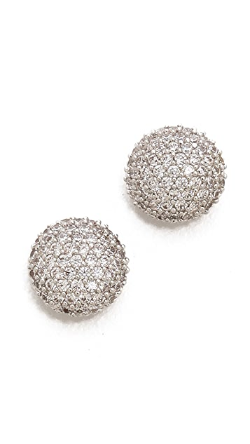 Tai Crystal Button Earrings