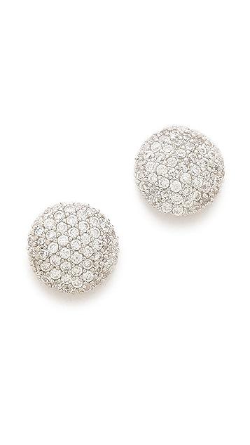 Tai Crystal Button Earrings