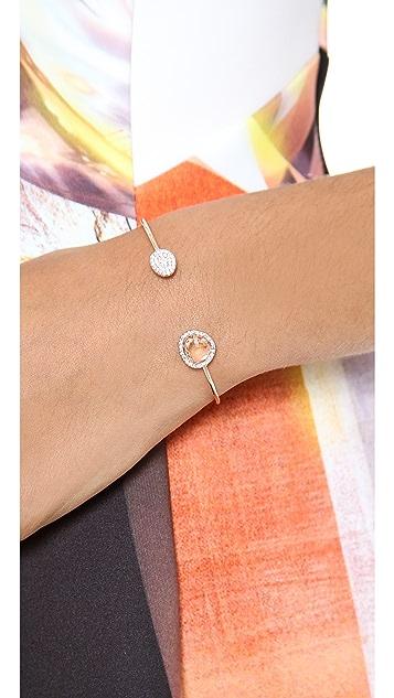 Tai Asymmetric Pave Bangle Bracelet