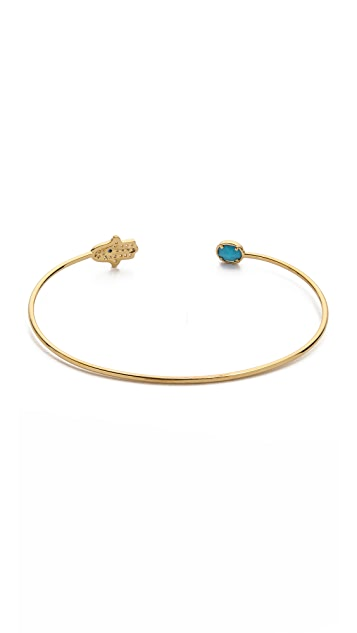 Tai Hamsa Open Bangle Bracelet