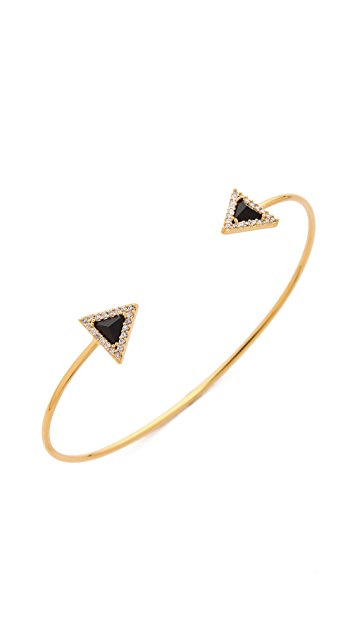 Tai Pave Arrow Open Bracelet