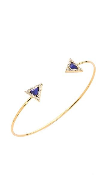 Tai Pave Arrow Open Bracelet