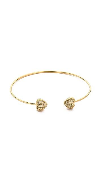 Tai Heart Open Bracelet