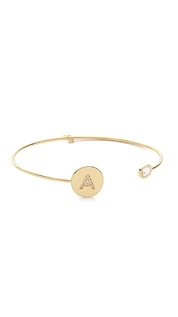 Tai Letter Open Cuff Bracelet