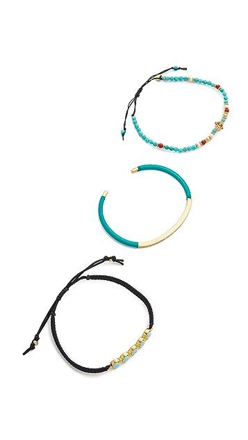 Tai Beaded Trio Bracelet