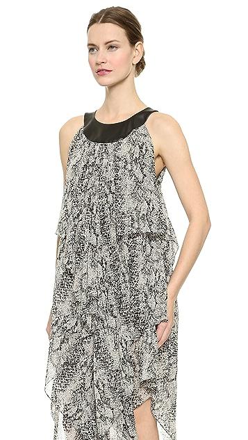 Tamara Mellon Chiffon Draped Dress