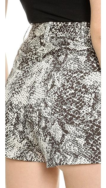 Tamara Mellon Snake Print Suit Shorts