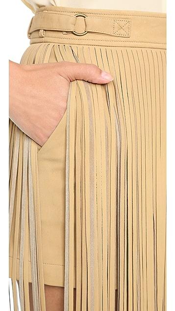 Tamara Mellon Юбка-шорты с бахромой