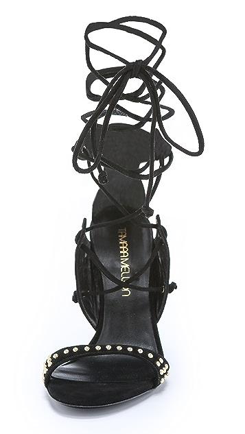 Tamara Mellon Gladiatrix Suede Sandals
