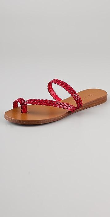 Tapeet Braided Flat Sandals