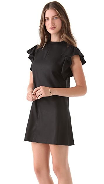 tba (to be adored) Lois Flutter Sleeve Dress