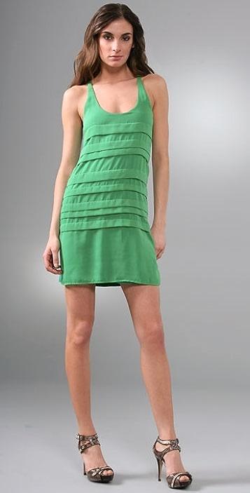 MISA Pintuck Dress