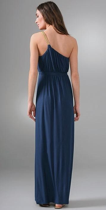 MISA One Shoulder Maxi Dress