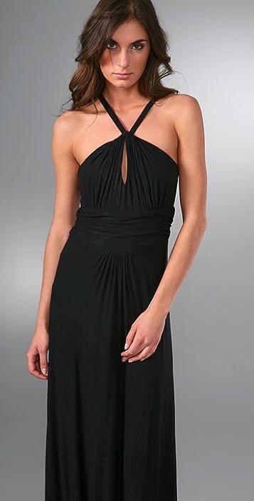 MISA Halter Long Dress