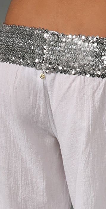 MISA Wide Leg Pants with Sequins
