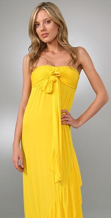 MISA Tie Front Long Dress