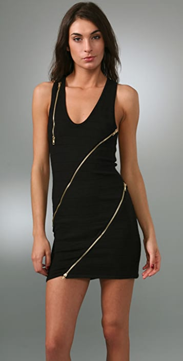 MISA Zipper Dress