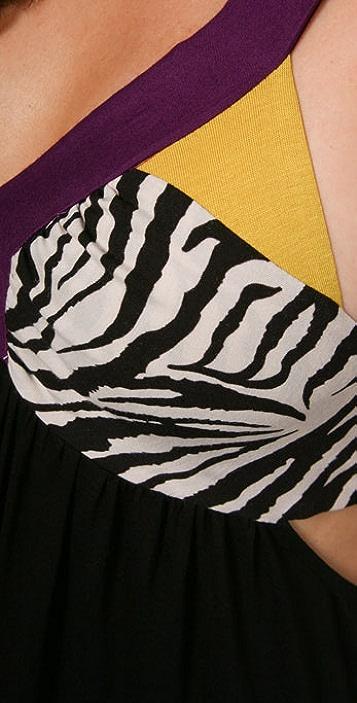 MISA Bandeau Back Long Dress
