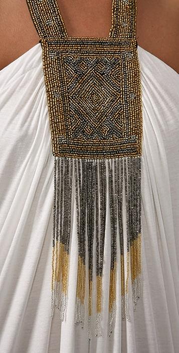 MISA Gold Necklace Long Dress