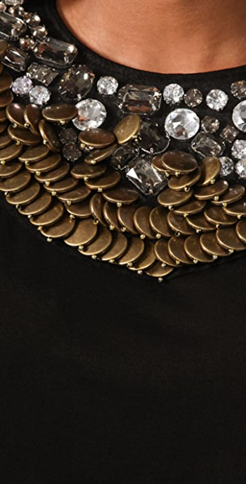 MISA Coin Necklace Dress