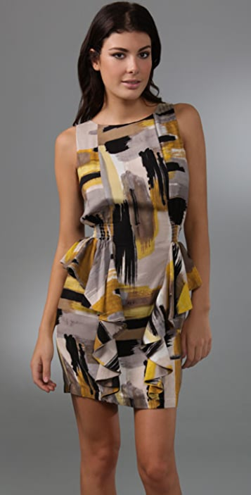 MISA Side Ruffle Dress
