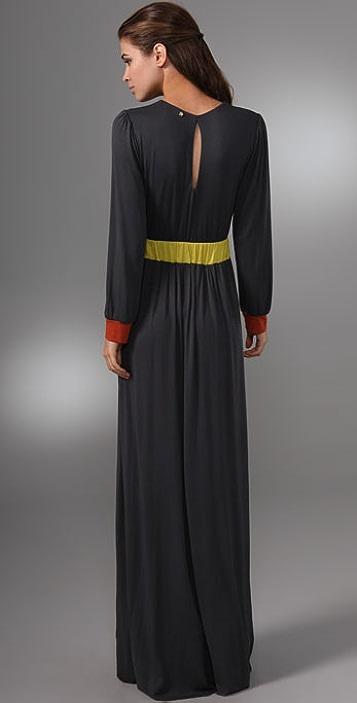 MISA Long Sleeve Maxi Dress