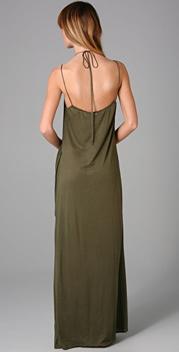 MISA Draped Long Dress