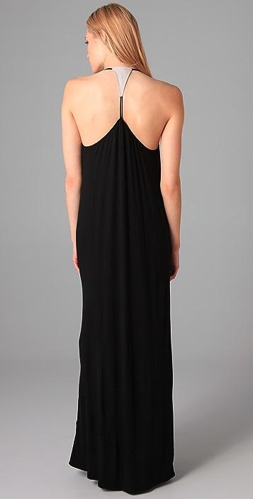 MISA Necklace Bib Long Dress