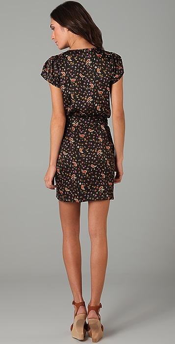 MISA Print Cap Sleeve Dress