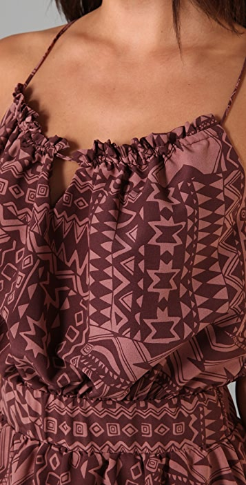 MISA Printed Mini Dress
