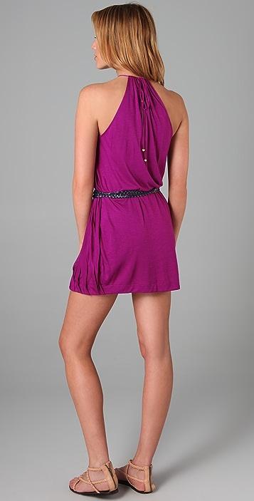MISA Belted Mini Dress