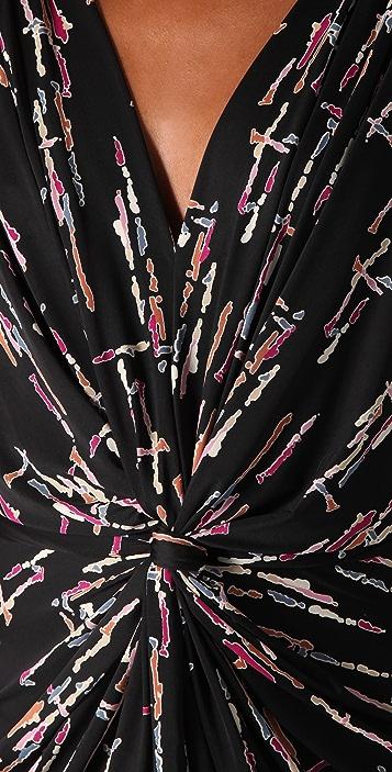 MISA Twist Front Maxi Dress