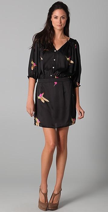 MISA Print Shirtdress