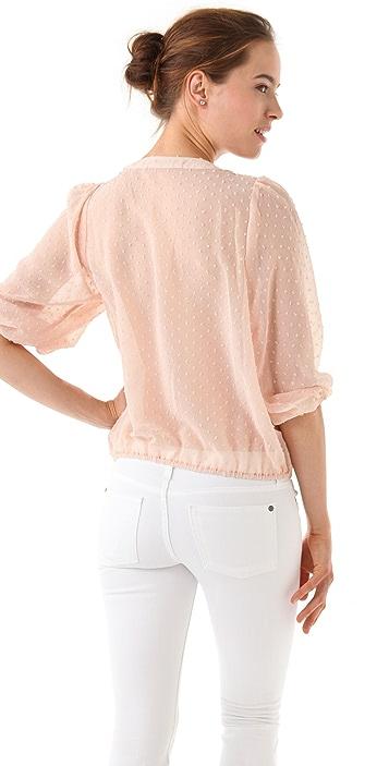 MISA Lace Front Blouse