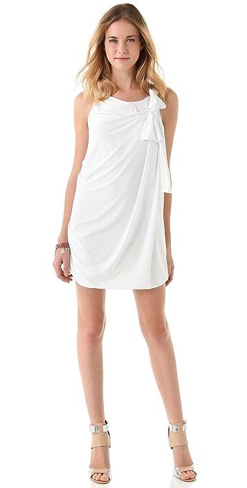 MISA Side Bow Mini Dress