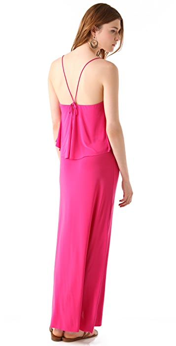 MISA Layered Maxi Dress