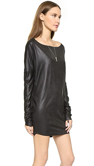 MISA Faux Leather Dress