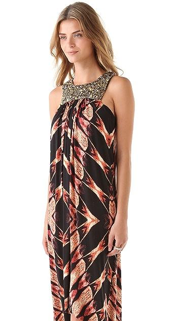 MISA Print Hi Lo Dress