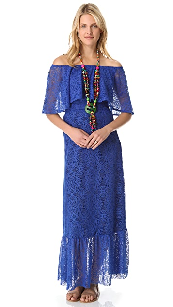 MISA Off Shoulder Maxi Dress