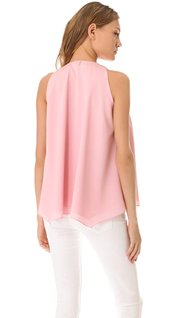 MISA Embellished Drape Top